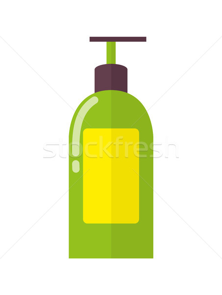 Big Plastic Bottle of Liquid Soap with Dispenser Stock photo © robuart