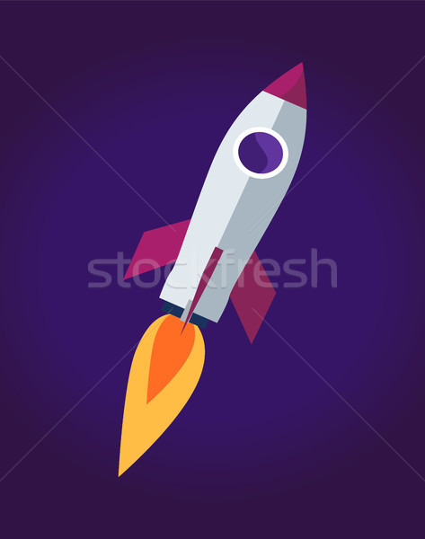 űr rakéta hajó poszter repülés tárgy Stock fotó © robuart
