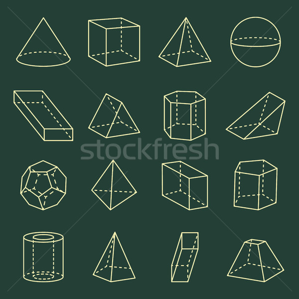 Geometric Shapes Collection 3D Vector Illustration Stock photo © robuart