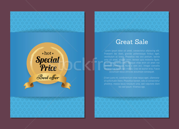 Great Sale Hot Special Price Best Offer Golden Label Stock photo © robuart
