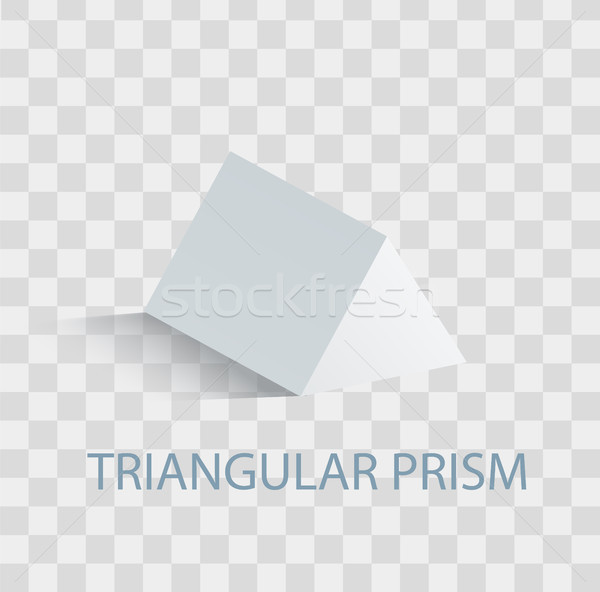 Triangular Prism Geometric Figure in white Color Stock photo © robuart