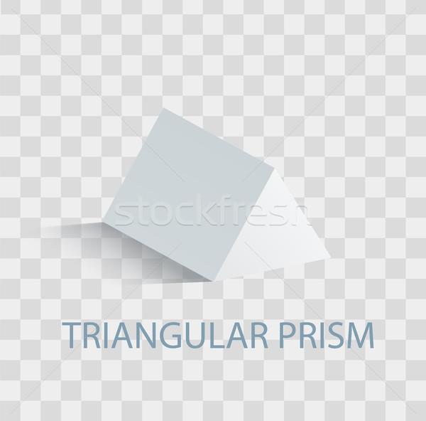призма геометрический Рисунок белый цвета форма Сток-фото © robuart