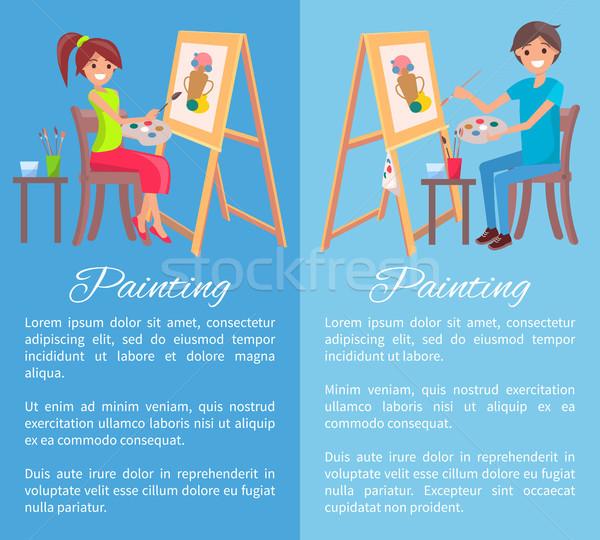 Pintura processo bandeira cor isolado brilhante Foto stock © robuart