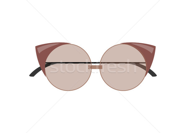 Stylish Female Cat-Eye Sunglasses of Rounded Shape Stock photo © robuart
