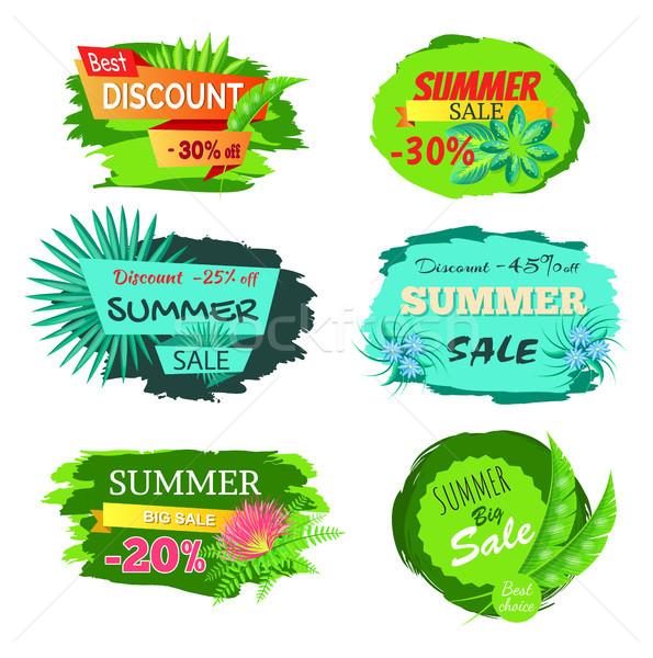 Conjunto desconto 30 verão venda Foto stock © robuart