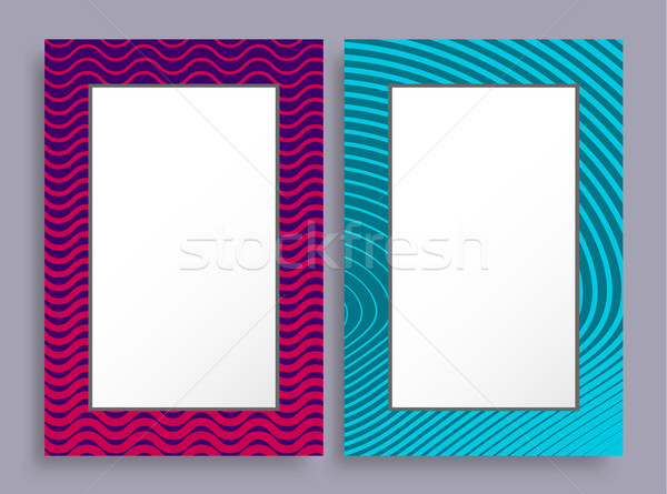 Empty Frames Two Banners of Purple and Blue Color Stock photo © robuart
