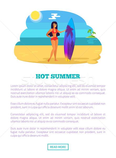 Caliente verano web anunciante playa tropical mujer Foto stock © robuart
