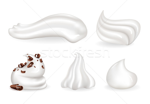 Whipped Cream Clean and with Chocolate Crumbles Stock photo © robuart
