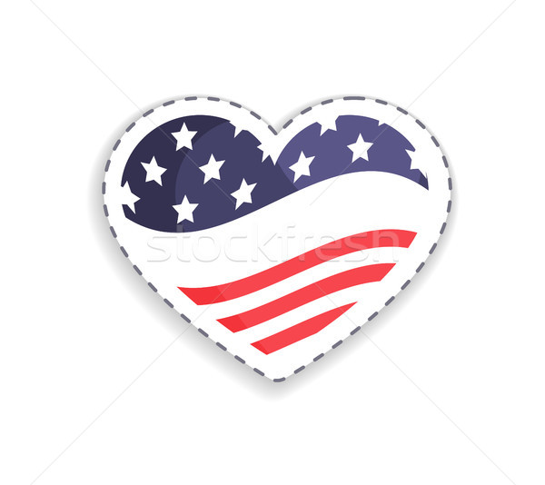 Old Glory Heart Shaped Figure Vector Illustration Stock photo © robuart