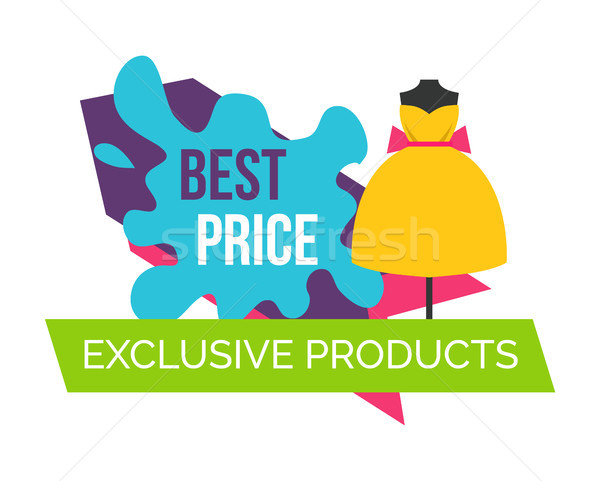 Best Price for Exclusive Products Logo with Dress Stock photo © robuart