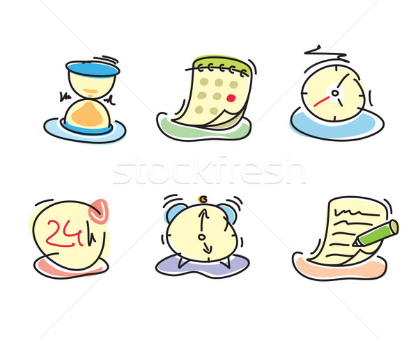 Time and date icons Stock photo © robuart