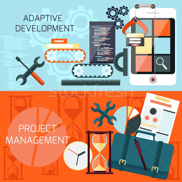 Adaptive development and project management Stock photo © robuart