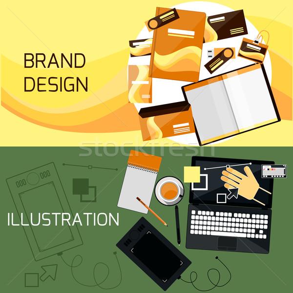 ブランド Webデザイン デザイン 企業 アイデンティティ テンプレート ストックフォト © robuart