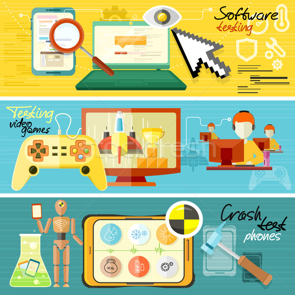 Software testing, games and crash test Stock photo © robuart