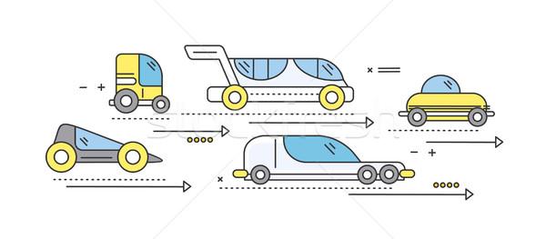 Araba gelecek yol taşıma trafik Stok fotoğraf © robuart