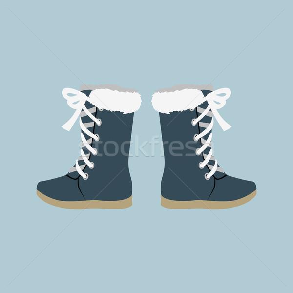 Winter Shoes Felt Boots Stock photo © robuart