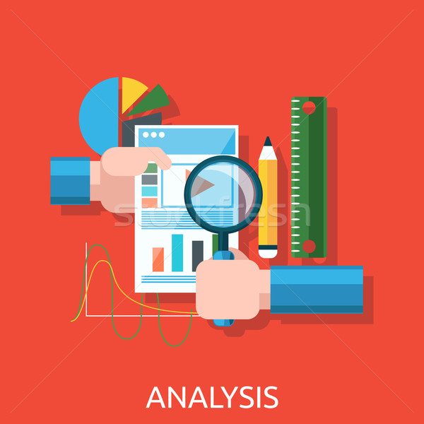 Analysis of Actions Infographic Stock photo © robuart