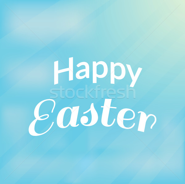 Happy Easter Text Stock photo © robuart