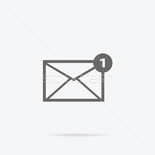 Envelope e-mail mensagem projeto linear e-mail Foto stock © robuart