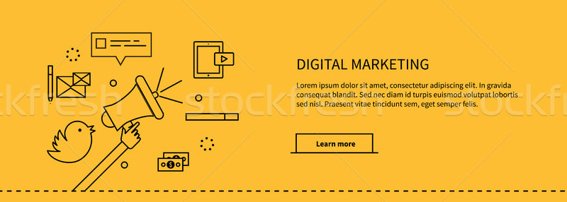Template Web Page About Digital Marketing Stock photo © robuart
