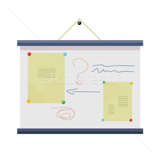 Whiteboard with Information. Stock photo © robuart