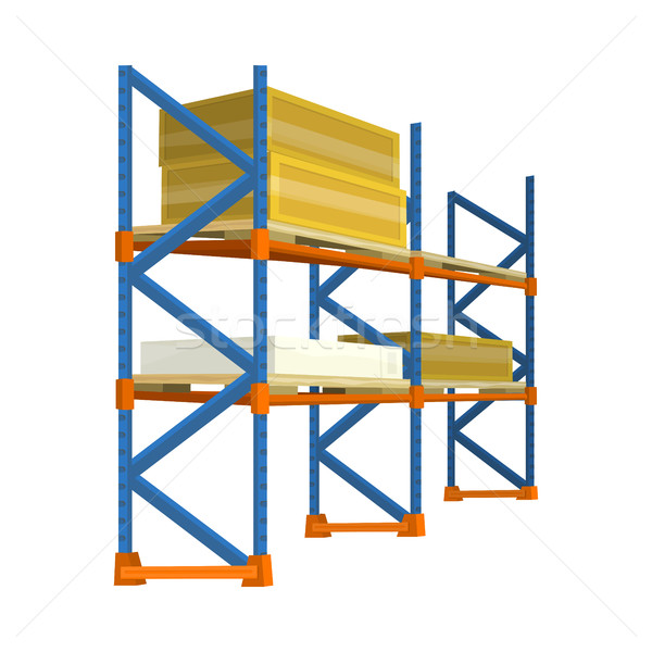 Pallet with Boxes in Warehouse Interior. Delivery Stock photo © robuart