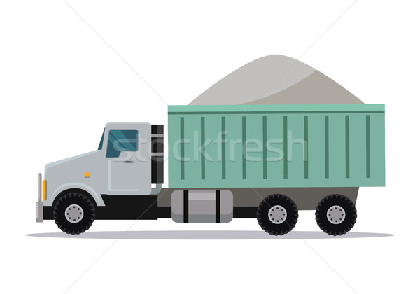 Trucking Vector Banner. Cargo Concept Truck Tipper Stock photo © robuart