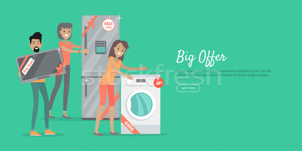 Big Offer in Electronics Store Vector Web Banner Stock photo © robuart
