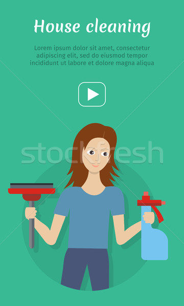 Cleaning Service Flat Style Vector Web Banner Stock photo © robuart