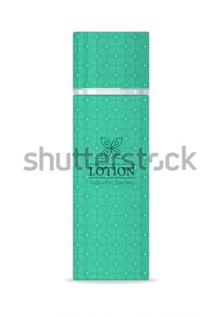 Lozione naturale verde plastica tubo cosmetici Foto d'archivio © robuart