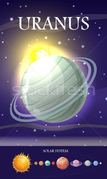 Planetă sistemul solar stele soare pluton pământ Imagine de stoc © robuart