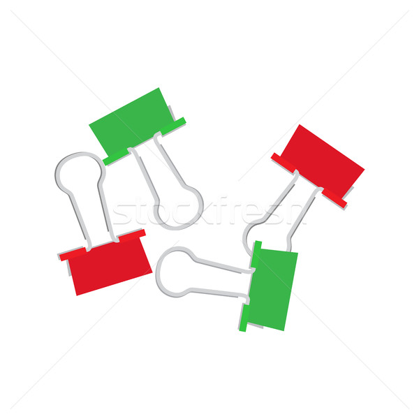 Coloré papier vecteur faible isolé blanche Photo stock © robuart