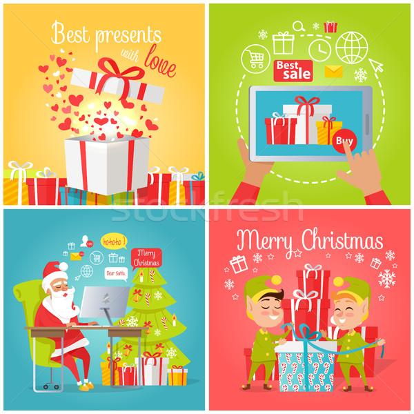 Foto stock: Mejor · presenta · amor · venta · alegre · Navidad