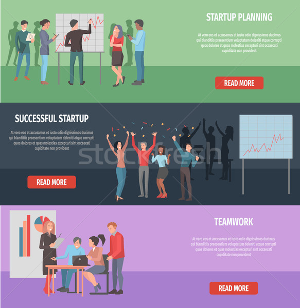 Successful Startup Internet Page Illustration Stock photo © robuart