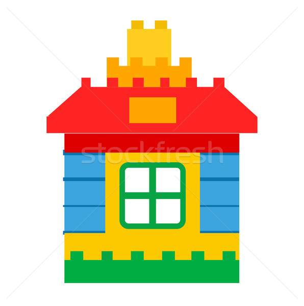 House Constructor Toy for Children Play Vector Stock photo © robuart