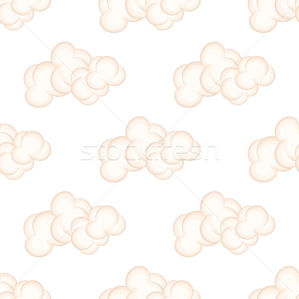 Seamless Pattern with Bushy Pink Clouds, Vector Stock photo © robuart