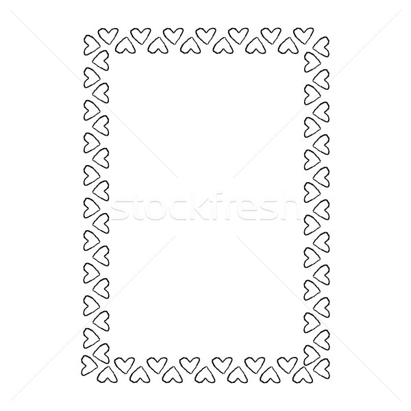 Black and White Frame Composed of Small Hearts Stock photo © robuart