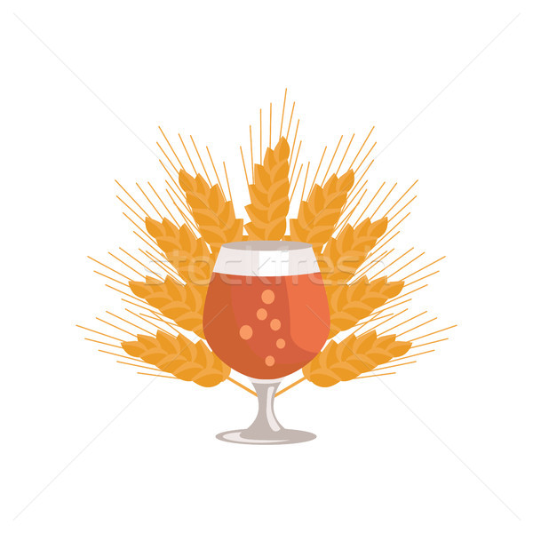 Snifter Beer in Transparent Glassware Vector Stock photo © robuart