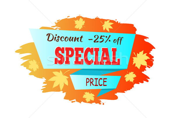 Autumn Discount Special Price Vector Illustration Stock photo © robuart