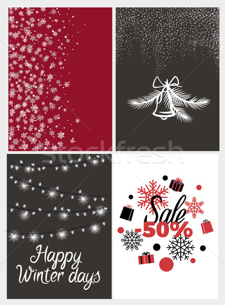 Happy Winter Days Sale Half Price, Fifty Percent Stock photo © robuart