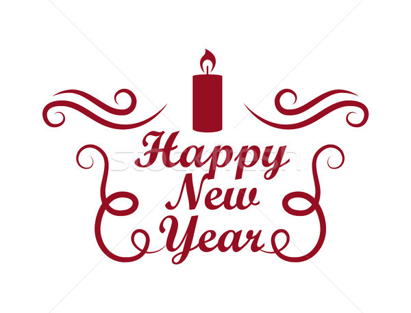 Happy New Year Placard on Vector Illustration Stock photo © robuart