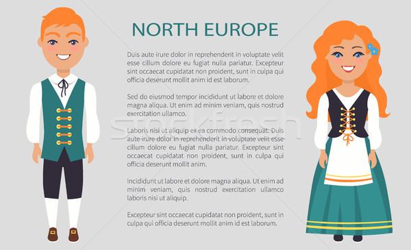 север Европа люди Таможня Традиции стране Сток-фото © robuart
