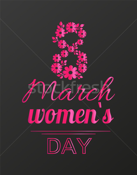 International Womans Day Holiday on Eight of March Stock photo © robuart