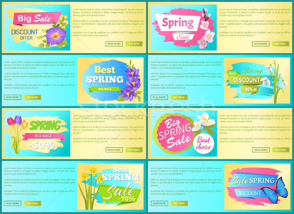 Bahar satış ayarlamak Filmi etiketler Stok fotoğraf © robuart