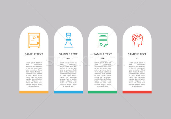 Set of Four Icons, Colorful Vector Illustration Stock photo © robuart