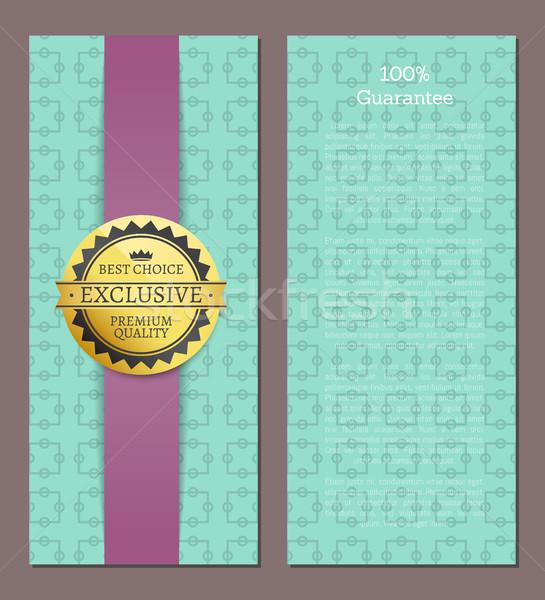 100 гарантировать охватывать дизайна эксклюзивный высокий Сток-фото © robuart