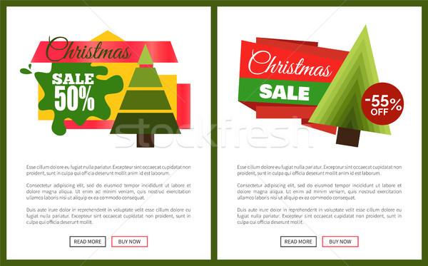 Noël vente carte vecteur illustrations Photo stock © robuart