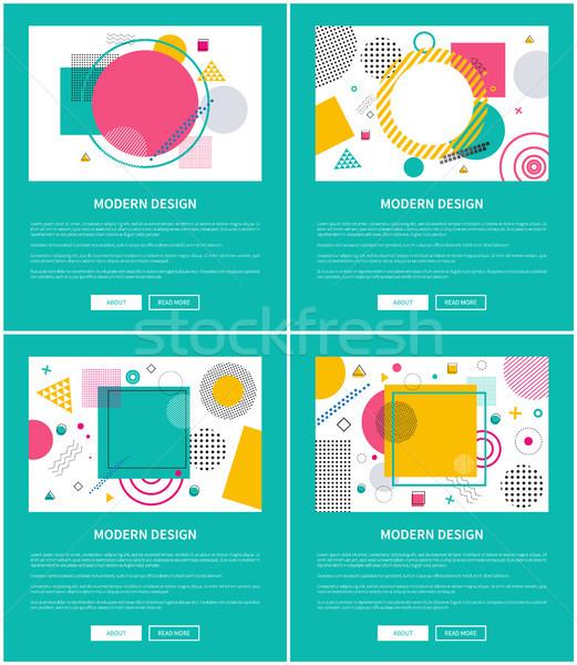 Moderno design testo raccolta internet campione Foto d'archivio © robuart
