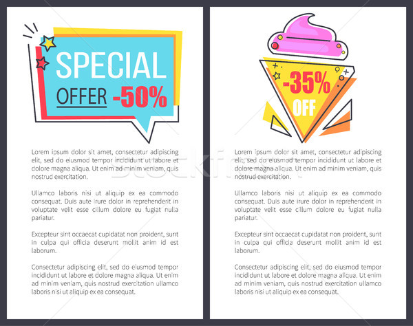 Special Offer with 35 Off Promotional Posters Stock photo © robuart