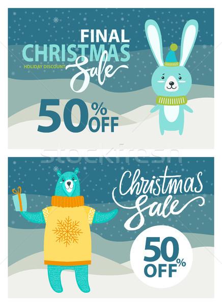 Сток-фото: окончательный · Рождества · продажи · набор · кролик